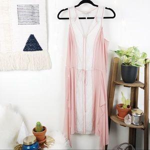 BCBG RUNWAY • Blush pink asymmetrical dress